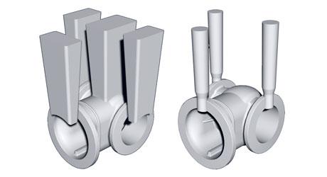 Запорная арматура: V-процесс (HWS), стержни Cold-Box (Laempe)